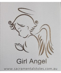 Baptism Christening Stole Sash Personalised (Baby / Infant) ANGEL 1m