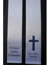 Baptism Christening Stole Sash Personalised With Cross