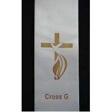 BYO STOLE : Cross PRINT MOTIF G to Existing Sash (Standard Size)