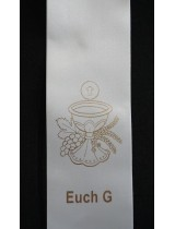 BYO STOLE : Eucharist PRINT MOTIF G to Existing Sash (Standard Size)